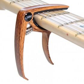 Cejilla / Capo para guitarra eléctrica (imitación madera curvado)