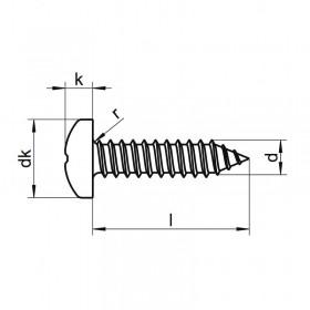 Tornillo 2,2 x 6,5 inox para clavijero (8 unidades)