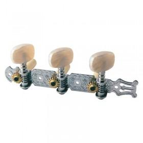 Clavijero guitarra clásica con lira botones perloide